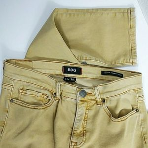 BDG High Rise Cigarette Ankle Mustard Jeans